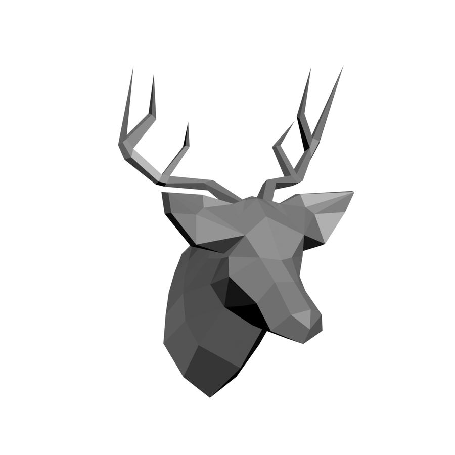 animal models low-poly royalty-free 3d model - Preview no. 3