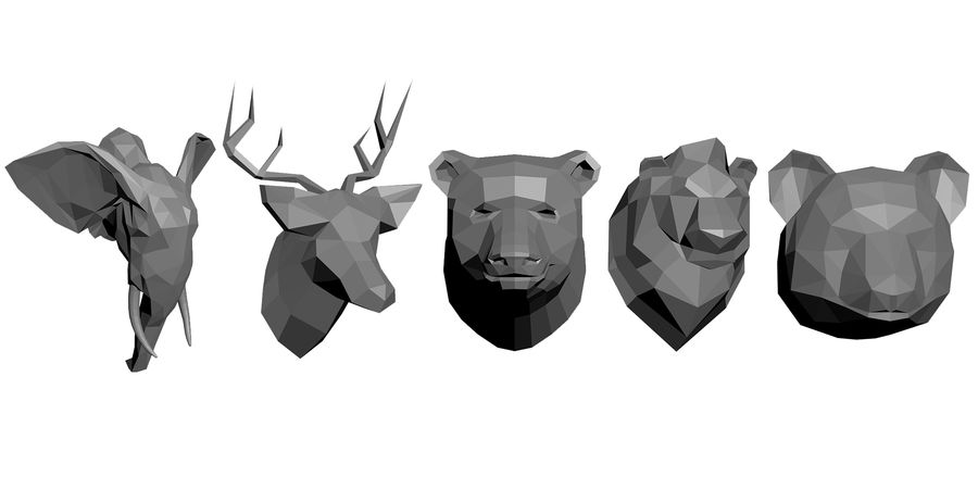 animal models low-poly royalty-free 3d model - Preview no. 1