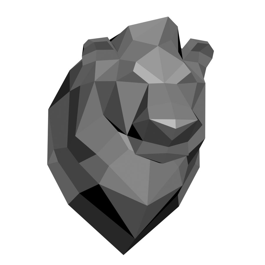 animal models low-poly royalty-free 3d model - Preview no. 2