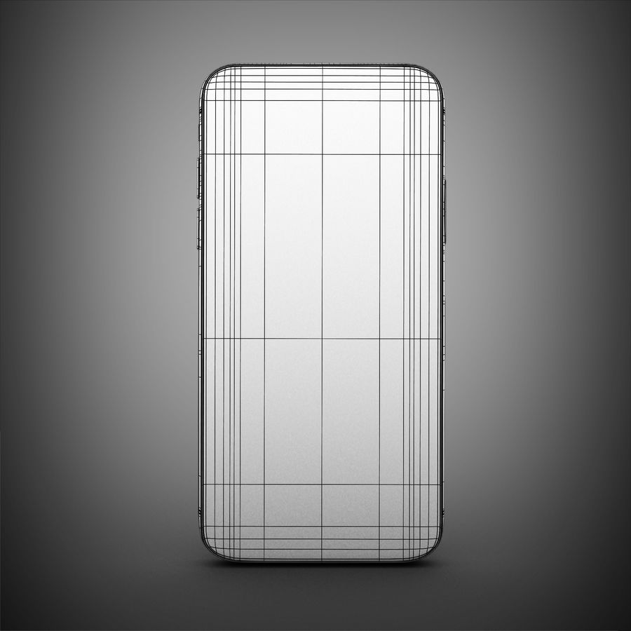 Iphone X royalty-free 3d model - Preview no. 9