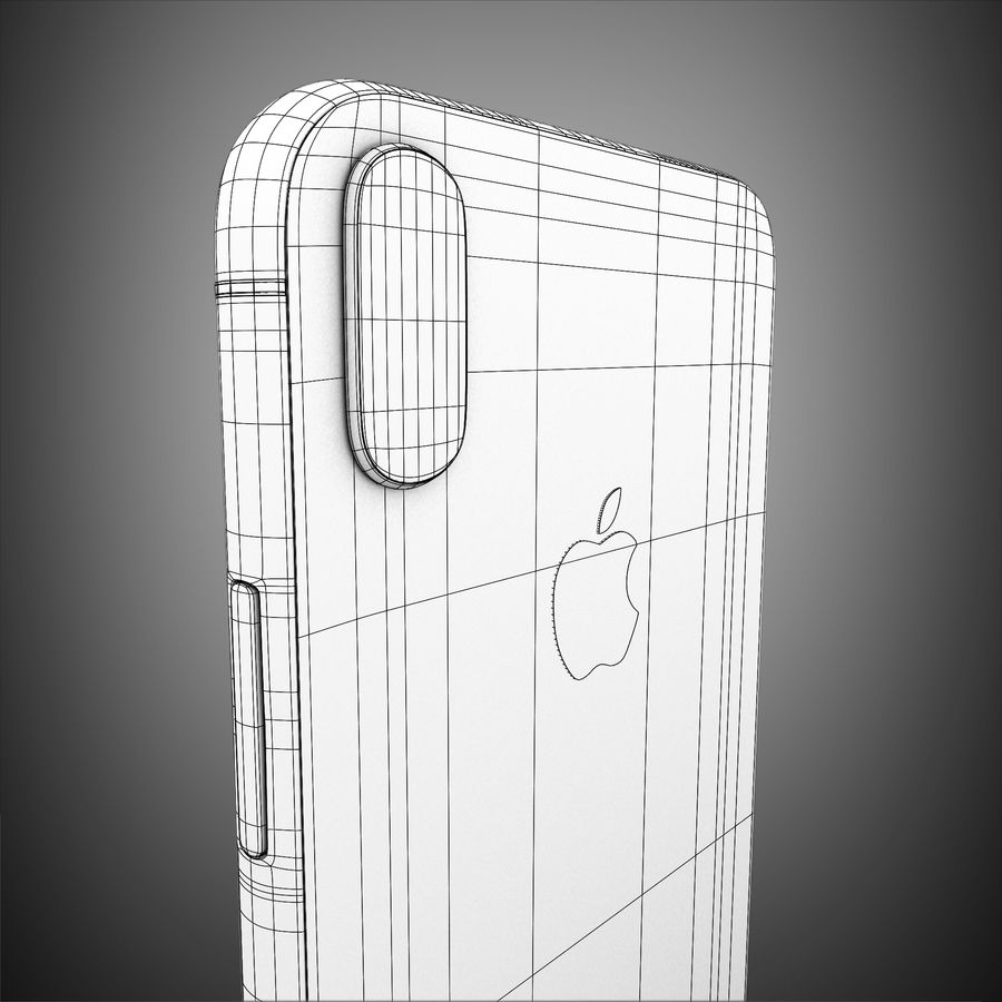 Iphone X royalty-free 3d model - Preview no. 15