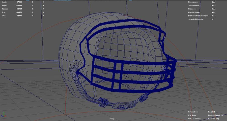 Футбольный шлем royalty-free 3d model - Preview no. 4