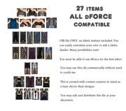 Genesis 8 Wardrobe // dForce Compatible 27 Items Feb 01 3d model