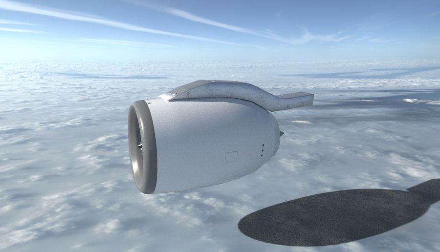 Airplane Jet Engine royalty-free 3d model - Preview no. 4
