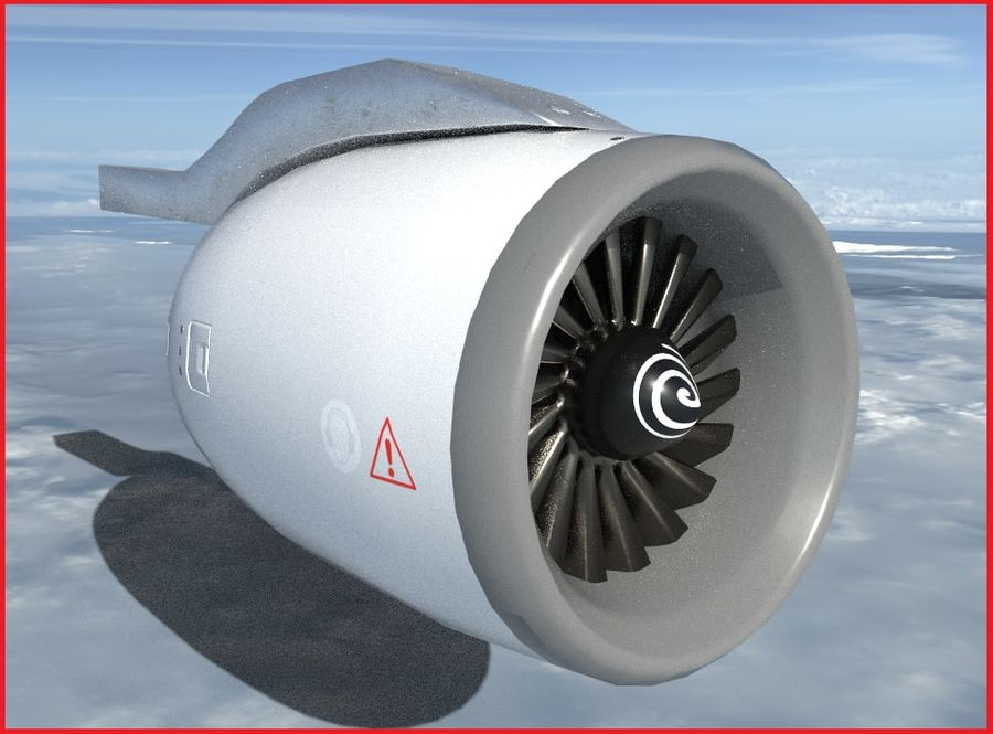 Airplane Jet Engine royalty-free 3d model - Preview no. 1