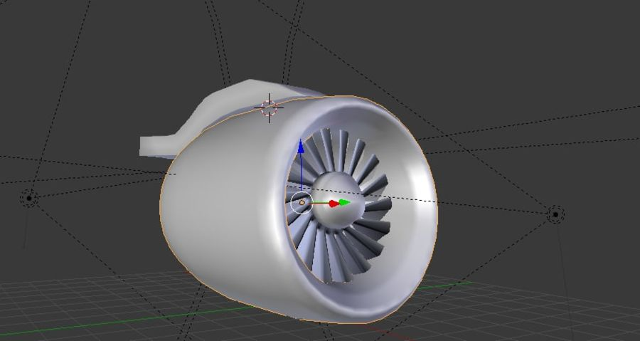 Airplane Jet Engine royalty-free 3d model - Preview no. 6