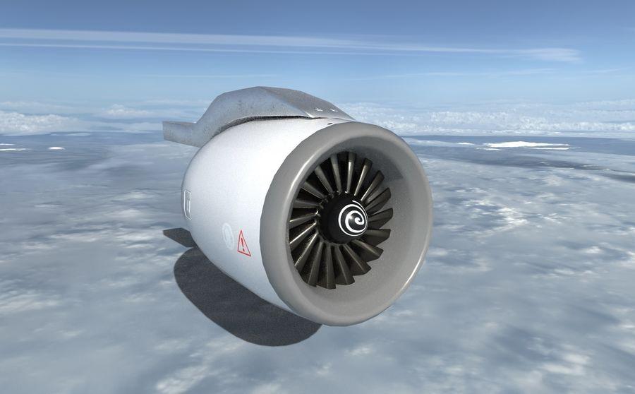 Motor a jato de avião royalty-free 3d model - Preview no. 2