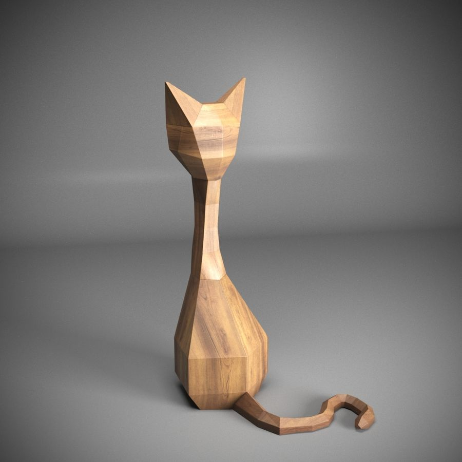 GATO royalty-free 3d model - Preview no. 2