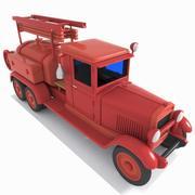 Camion citerne toon 3d model