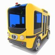 Toon Minibus 3d model