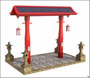 Japońska struktura 3d model