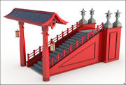 Asian Stairs 3d model