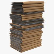 Pile de fichiers papier 3d model