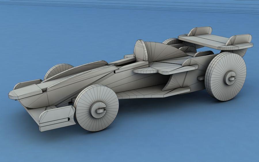 Drewniany samochód wyścigowy royalty-free 3d model - Preview no. 8