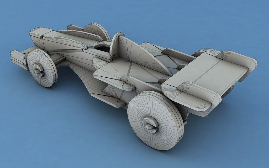Drewniany samochód wyścigowy royalty-free 3d model - Preview no. 9