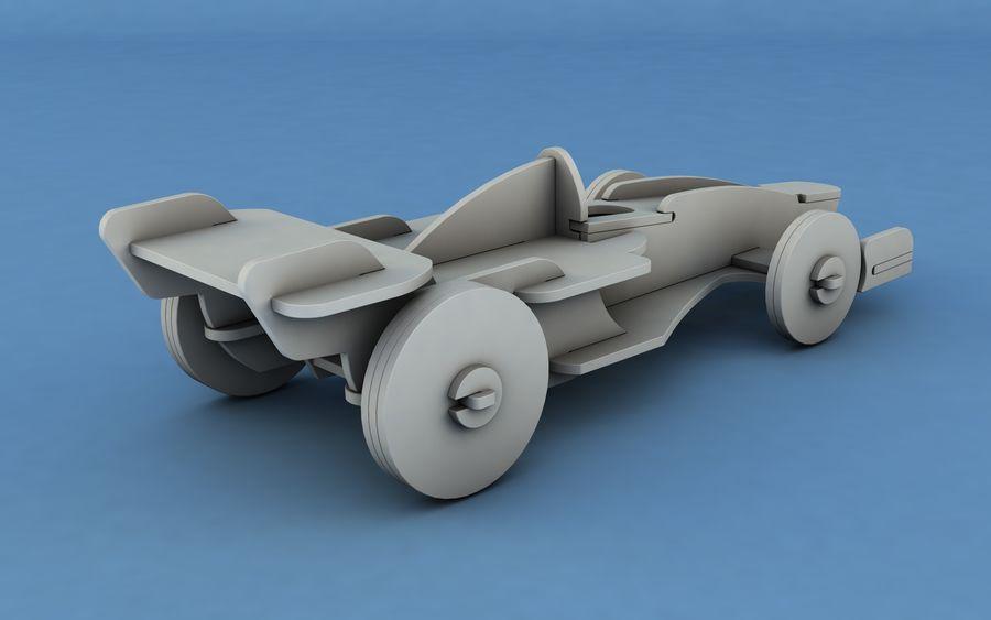 Drewniany samochód wyścigowy royalty-free 3d model - Preview no. 6
