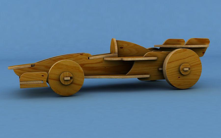 Drewniany samochód wyścigowy royalty-free 3d model - Preview no. 2