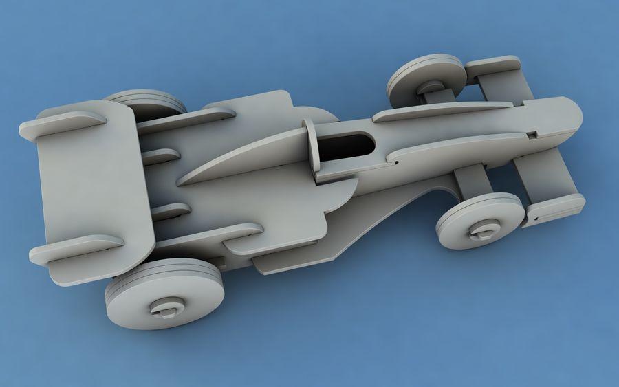 Drewniany samochód wyścigowy royalty-free 3d model - Preview no. 7