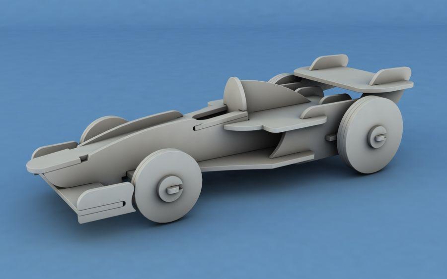Drewniany samochód wyścigowy royalty-free 3d model - Preview no. 5