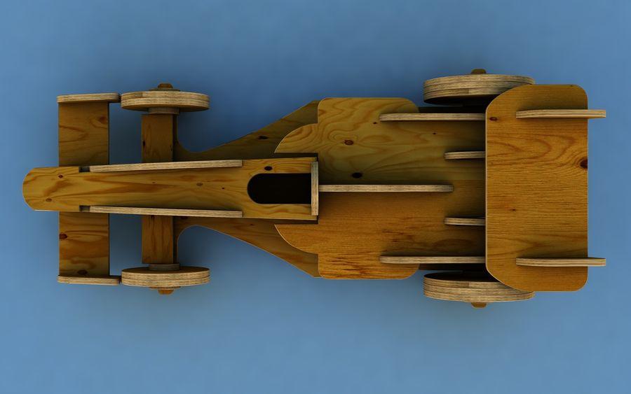 Drewniany samochód wyścigowy royalty-free 3d model - Preview no. 4