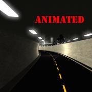 Автомобильный тоннель 3d model