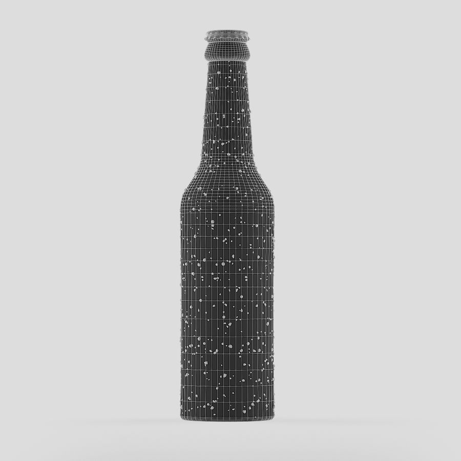 Green Beer Bottle royalty-free 3d model - Preview no. 7