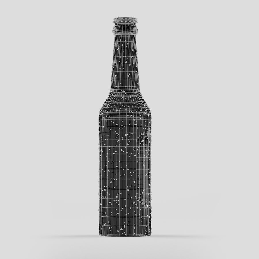 Green Beer Bottle royalty-free 3d model - Preview no. 6