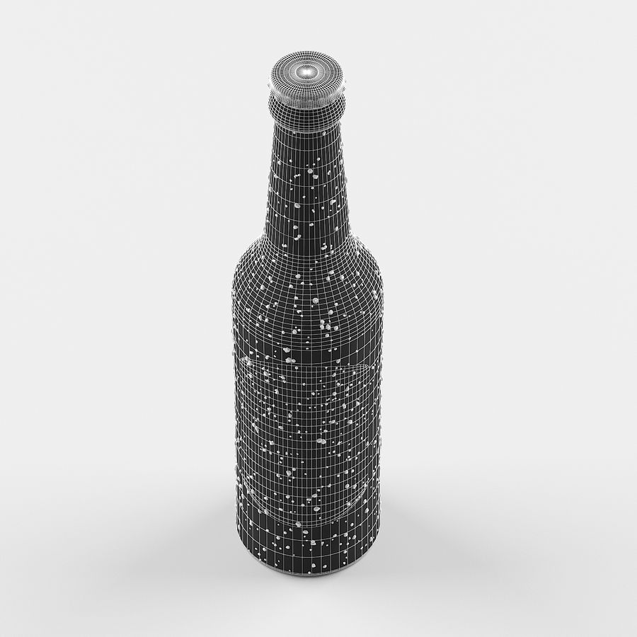 Green Beer Bottle royalty-free 3d model - Preview no. 8