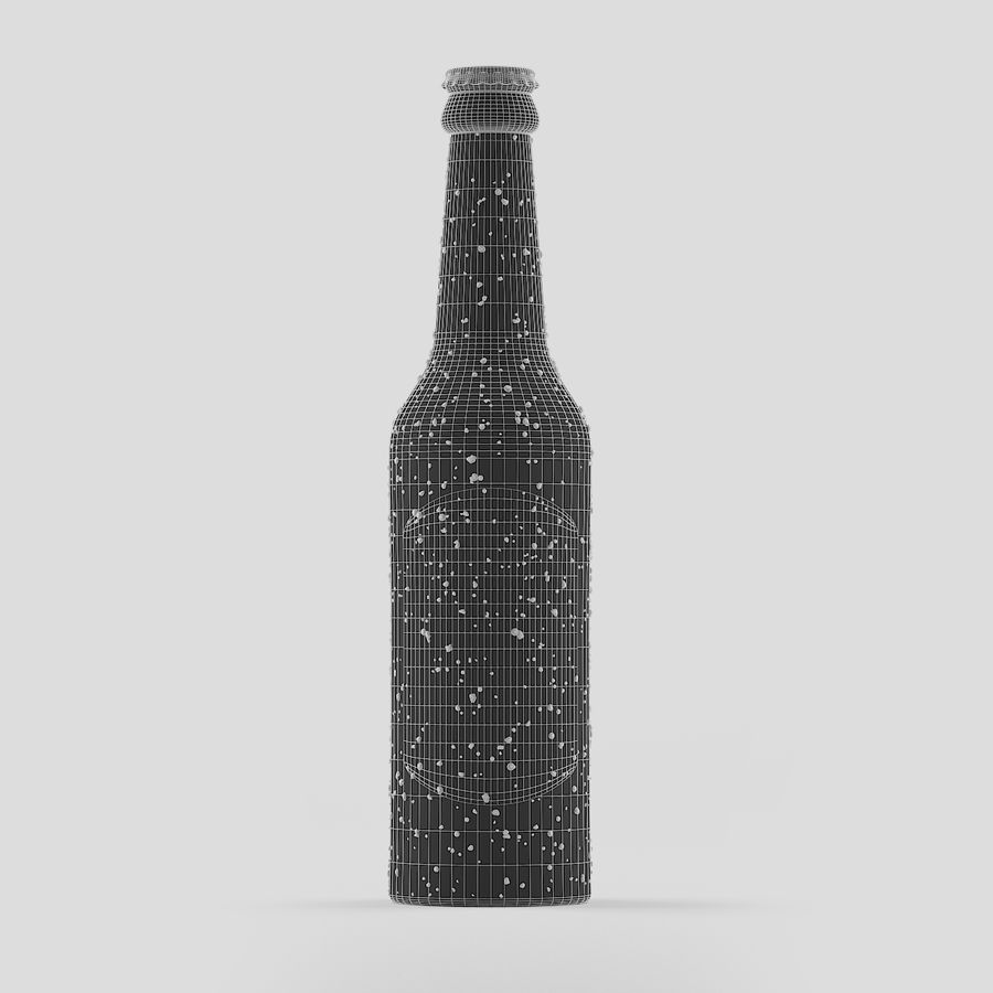 Green Beer Bottle royalty-free 3d model - Preview no. 5
