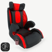 Baby car seat red 3d model