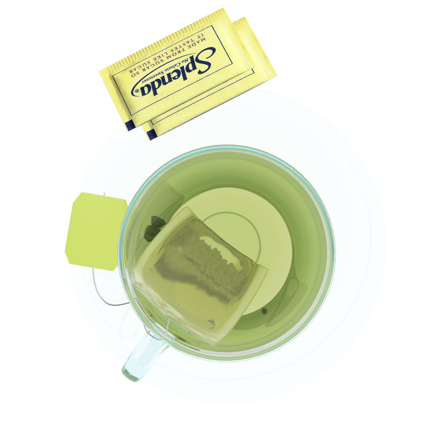 Tea Cup royalty-free 3d model - Preview no. 3