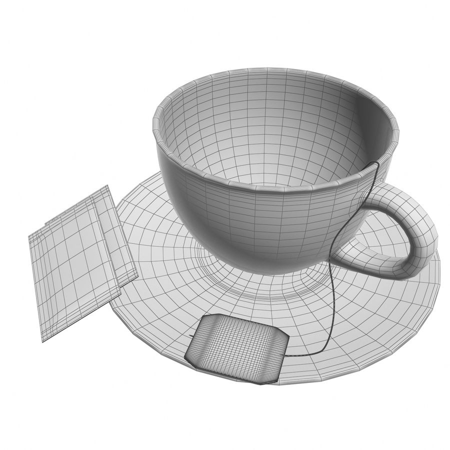 Tea Cup royalty-free 3d model - Preview no. 8