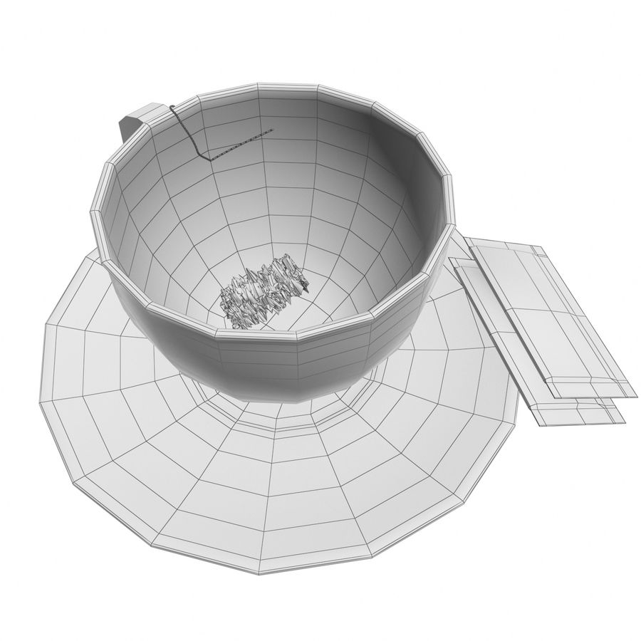 Tea Cup royalty-free 3d model - Preview no. 16