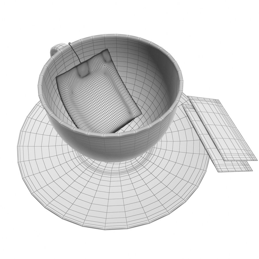 Tea Cup royalty-free 3d model - Preview no. 14
