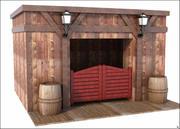 Western Door 3d model