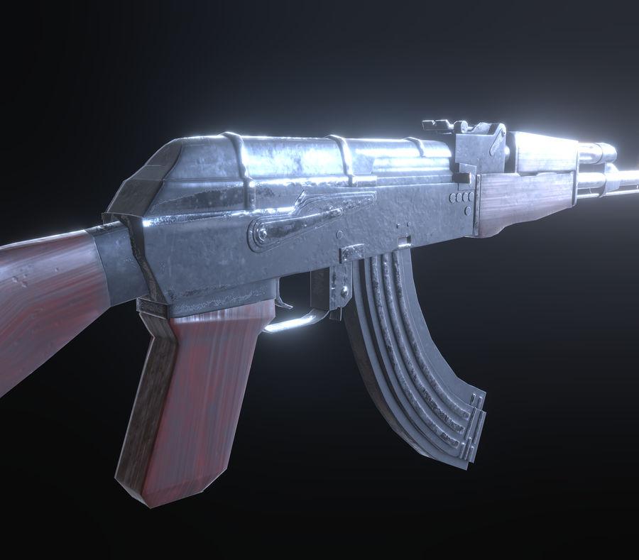 AK-47 royalty-free 3d model - Preview no. 3
