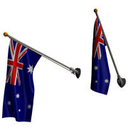 flags_of Australia set 3d model