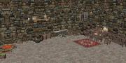 Średniowieczny dom wiejski Przedmioty wewnętrzne 3d model