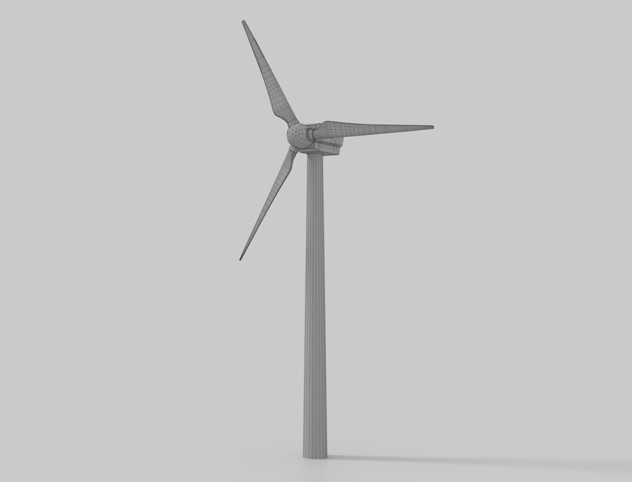 Wind Turbine royalty-free 3d model - Preview no. 1