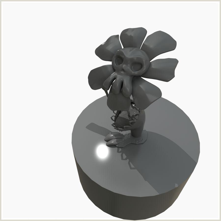 좀비 식물 유독 한 꽃 royalty-free 3d model - Preview no. 3