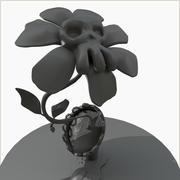 좀비 식물 유독 한 꽃 3d model