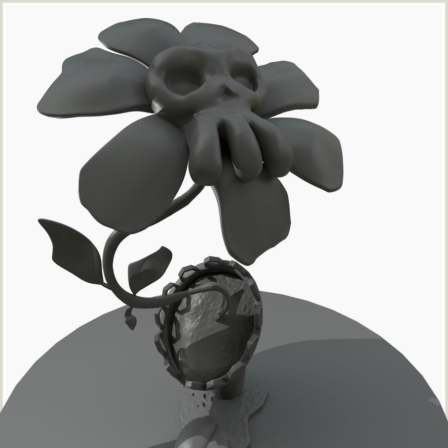 좀비 식물 유독 한 꽃 royalty-free 3d model - Preview no. 1