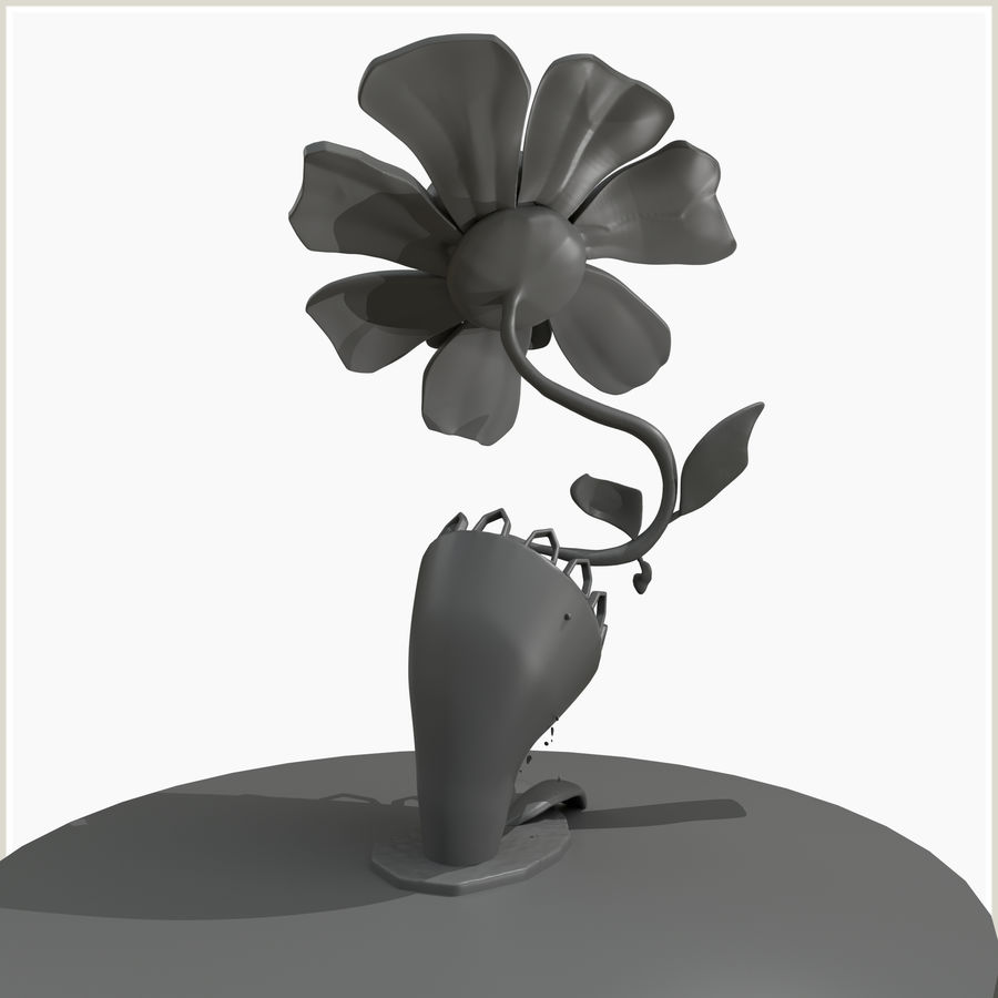 좀비 식물 유독 한 꽃 royalty-free 3d model - Preview no. 5