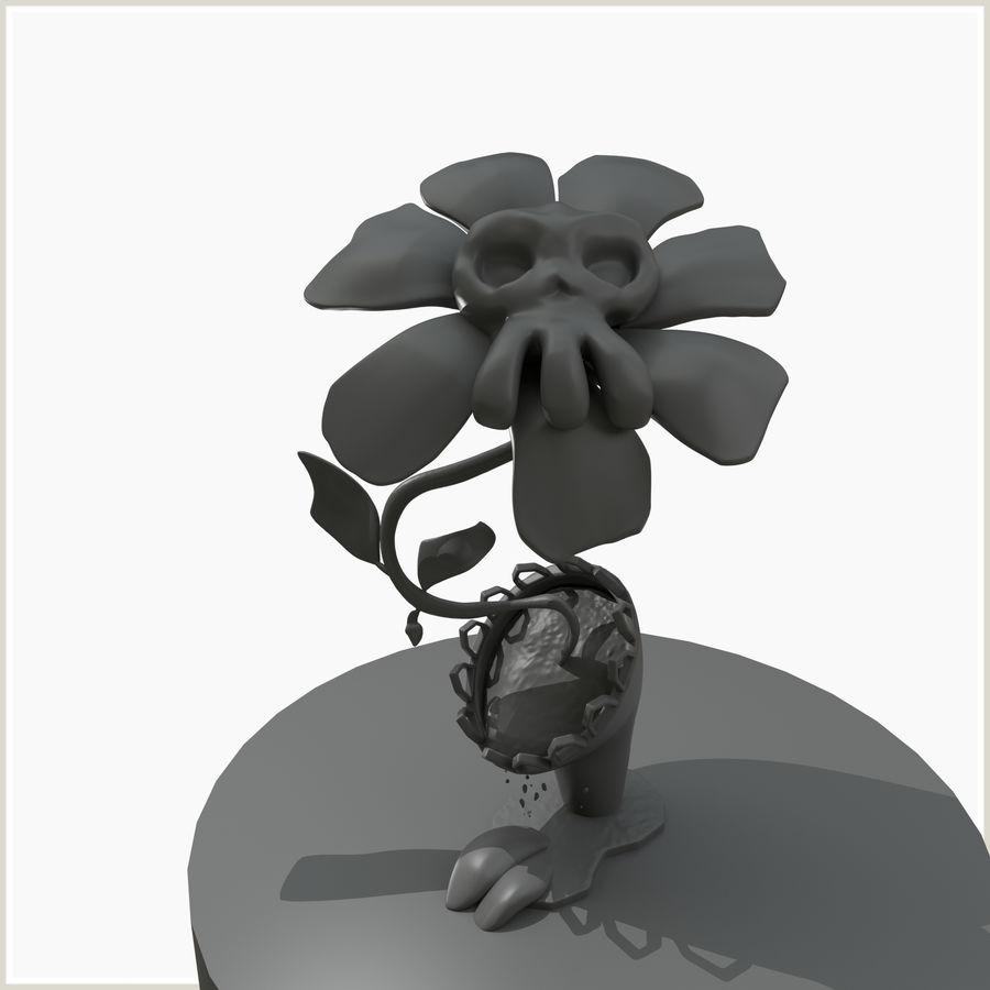 좀비 식물 유독 한 꽃 royalty-free 3d model - Preview no. 4