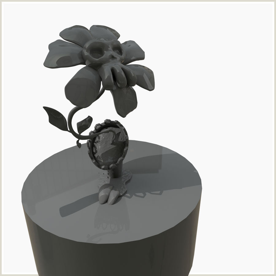 좀비 식물 유독 한 꽃 royalty-free 3d model - Preview no. 2