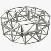 Каркас здания Круглый Малый 3d model