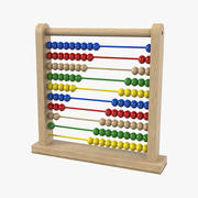 Classic Wooden Educational Counting Toy 3d model