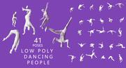 Low Poly / Dancing People 3d model