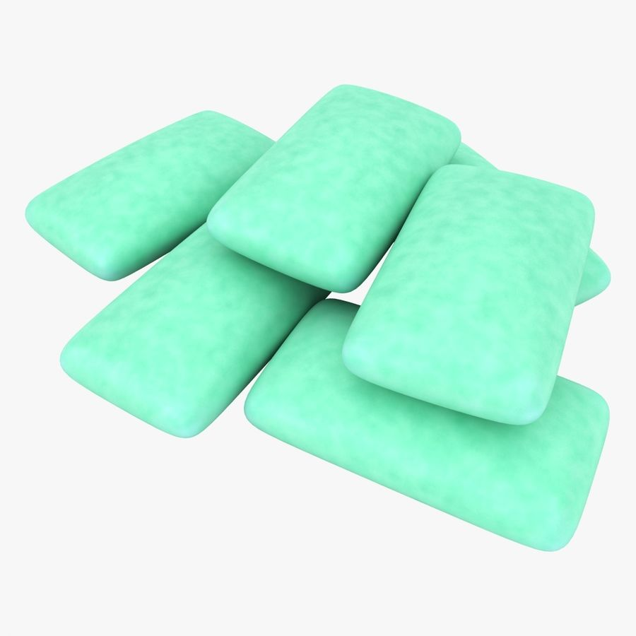 Chewing Gum Pile royalty-free 3d model - Preview no. 1