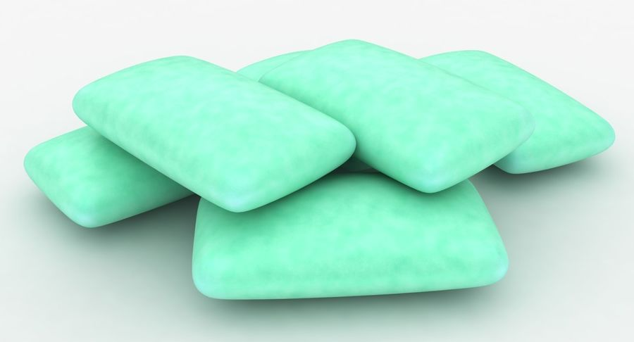 Chewing Gum Pile royalty-free 3d model - Preview no. 7